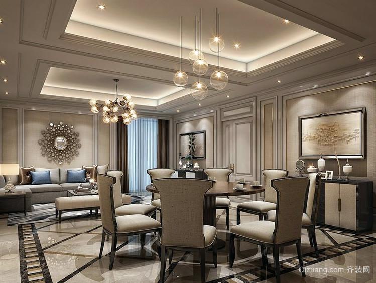 简欧风格客厅吊灯装修效果图实例