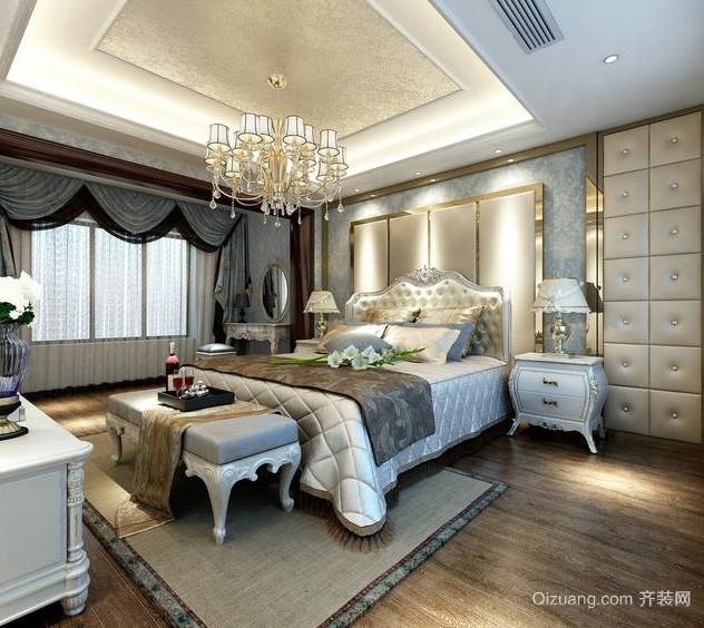 经典欧式风格卧室吊灯装修效果图