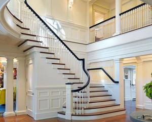 复式小楼别墅型简欧风格楼梯效果图