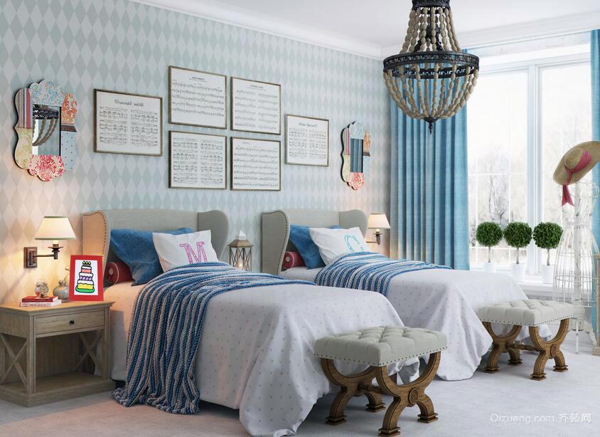 现代欧式大户型轻快儿童卧室装修效果图鉴赏