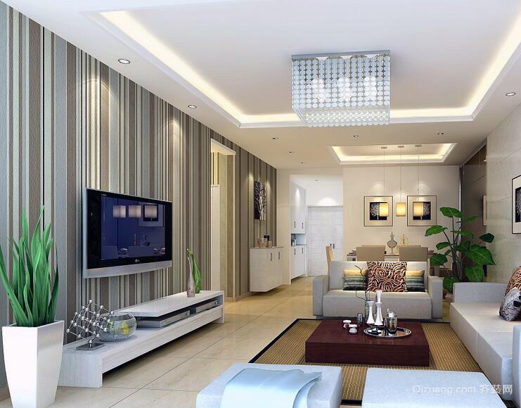 2016大户型现代简约客厅室内装修效果图