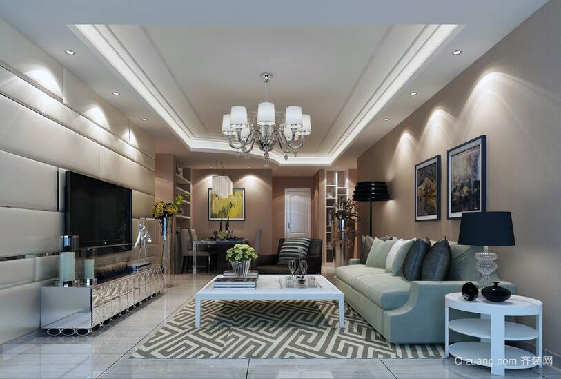 120平米欧式经典的客厅吊顶装修效果图