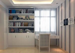 现代简约风格大户型书房书柜装修效果图