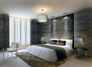 欧式风格大户型卧室室内背景墙装修效果图