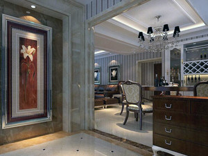 别墅型都市现代客厅玄关隔断装修效果图欣赏