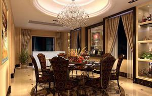 欧式风格别墅型精致的家庭餐厅装修效果图