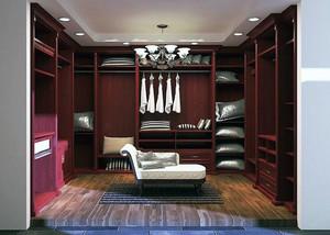 现代室内大户型步入式衣帽间装修效果图