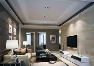 现代简约装修样板间电视背景墙装修效果图
