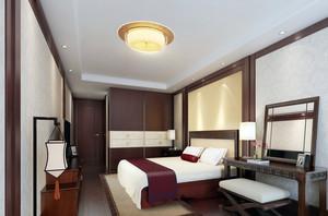 三居室120平米现代中式卧室装修效果图