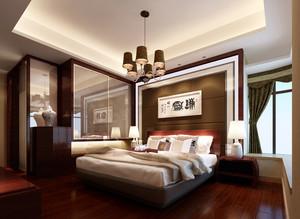 精致时尚中式卧室吊灯装修效果图