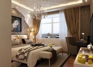 大户型欧式精致典雅卧室吊灯装修效果图