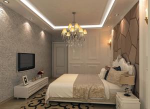 时尚经典卧室背景墙装修效果图