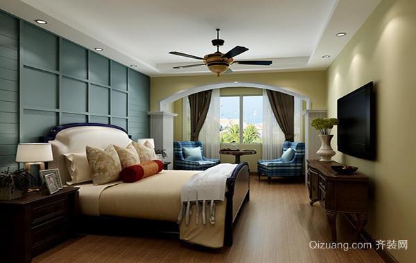 大户型地中海风格卧室背景墙装修效果图欣赏