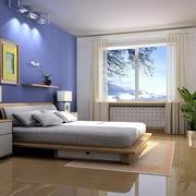 时尚卧室装背景墙修效果图