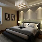 卧室水晶吊灯效果图
