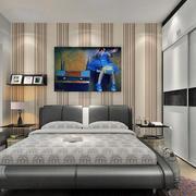 时尚卧室背景墙装修图