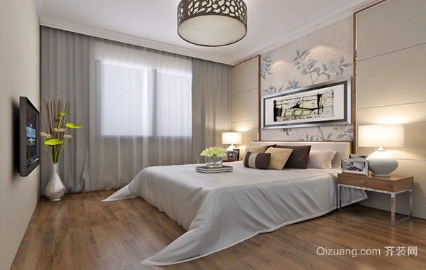 三居室现代时尚简约卧室吊灯装修效果图