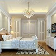 卧室唯美水晶吊灯效果图