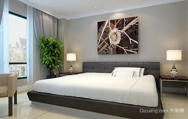 120平米简约时尚卧室装修效果图