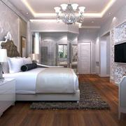 别墅型卧室吊灯装修效果图