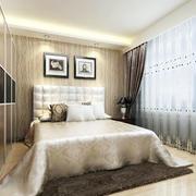 时尚欧式风格卧室窗帘装修效果图