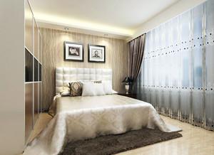 别墅型时尚简约舒适宜家卧室装修效果图