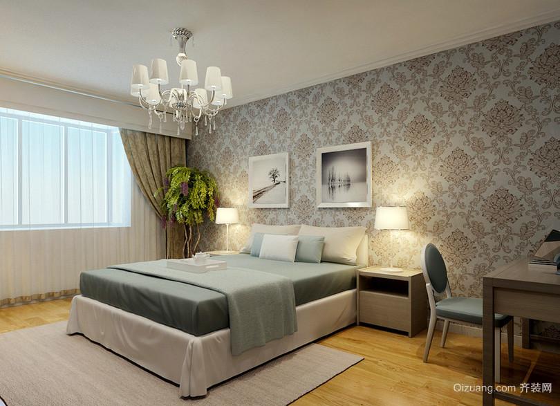 20平米现代时尚卧室吊灯装修效果图