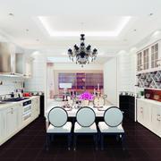 精致的都市欧式风格大户型厨房装修效果图