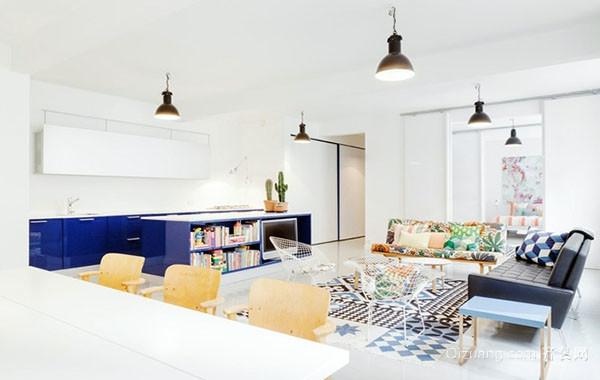110平米两居室时尚混搭客厅装修效果图