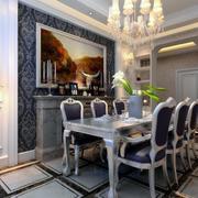 欧式风格别墅型餐厅室内装修效果图