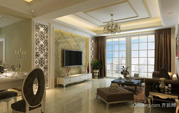 豪华别墅精致欧式风格客厅装修效果图