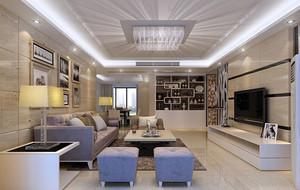 现代豪华时尚简欧风格客厅吊灯装修效果图