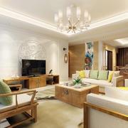 现代简约客厅整体图