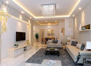 130平米现代时尚简约客厅装修效果图