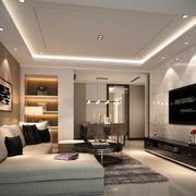 现代简约时尚宜家客厅装修效果图