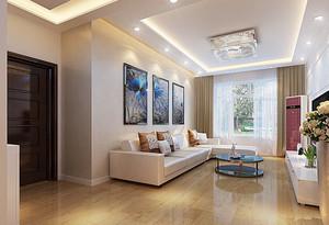 现代简约时尚宜家客厅背景墙装修效果图