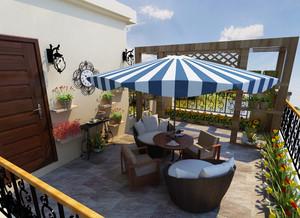 精致的舒适别墅型阳台装修设计效果图