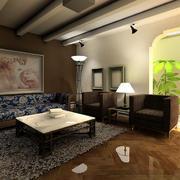 现代简欧风格客厅装修效果图
