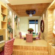 榻榻米书房一体设计图