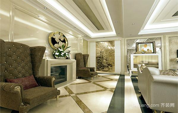 现代欧式大户型室内玄关装修效果图鉴赏