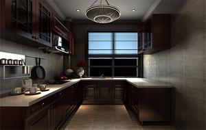 欧式风格别墅型厨房吊顶装修设计效果图