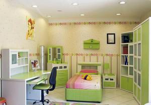 2016小户型时尚的儿童卧室背景墙装修效果图