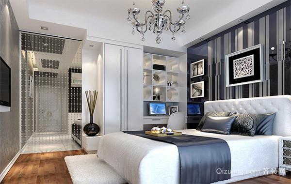 大户型现代主义风格卧室背景墙装修效果图鉴赏