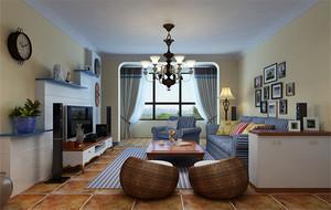 120平米大户型地中海风格客厅装修效果图