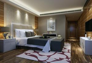 小户型现代简约装修样板间卧室背景墙装修效果图