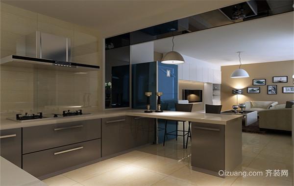 小户型欧式开放式厨房吊顶装修效果图实例