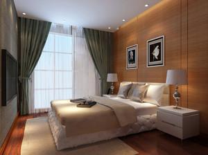 两居室现代田园风格卧室装修效果图