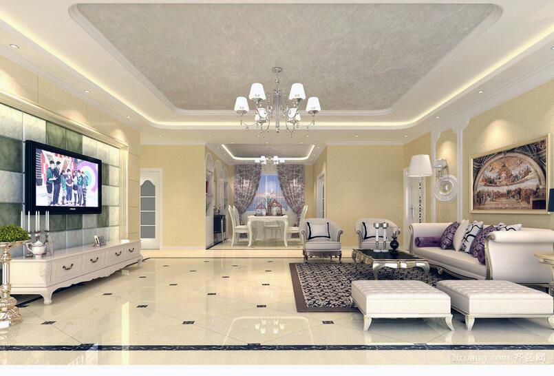 70平米简欧风格小户型客厅装修效果图欣赏