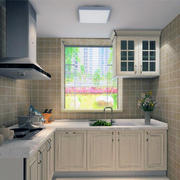 别墅型都市唯美欧式厨房装修效果图实例