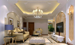 三居室现代时尚简约客厅装修效果图